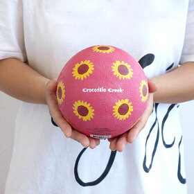 ゴムボールラバーボールボール外遊び子供用かわいい輸入玩具アメリカcrocodilecreekクロコダイルクリークナチュラルラバーボール13cm