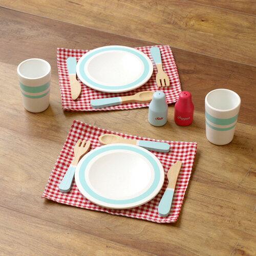 おままごと 木製 食器 お皿 料理 キッチン 木のおもちゃ おしゃれ かわいい ギフト プレゼント 輸入玩具 イギリス Indigo Jamm インディゴジャム ダイニングセット