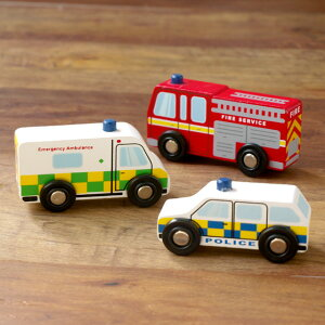 おもちゃ 車 木製 車のおもちゃ くるま はたらくくるま 輸入玩具 おしゃれ かわいい イギリス Indigo Jamm インディゴジャム はたらくくるま3個セット