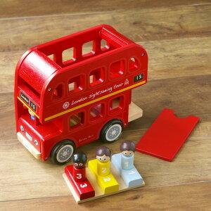 おもちゃ 車 木製 車のおもちゃ くるま はたらくくるま おしゃれ かわいい 輸入玩具 イギリス Indigo Jamm インディゴジャム ロンドンバス