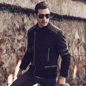 ダブルライダースジャケット メンズ 本革 M2014-5 軽くて柔かい! シングルライダース ダブルライダース ライダースジャケット レザージャケット 革ジャン 皮ジャン シングルライダース 本革ジャケット 黒 ジャケット アウター ブルゾン バイク ライディングジャケット