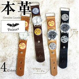 40e99177e9 ヴィンテージ加工コンチョ付ウォッチ メンズ 本革 quitter QTW003BE 腕時計 ウォッチ 革ジャン・革製品