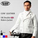 Horn Works 本革 UKダブルライダースジャケット メンズ ホーンワークス 3527 ダブルライダース ライダースジャケット …