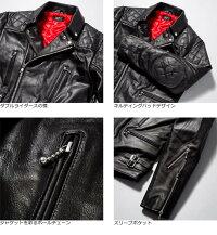 パディングUKダブルライダースジャケットメンズ本革HornWorks3568ダブルライダースライダースジャケットレザージャケット革ジャン皮ジャンシングルライダース本革ジャケットブラック黒ジャケットアウターブルゾンバイクライディングジャケット
