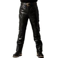 メッシュストレート5ポケットパンツメンズ本革リューグーレザーズSTP04Bレザーパンツ本革パンツ本皮パンツライダースパンツライディングパンツ本革ズボンボトムスデニムジーパンバイク用レーシングパンツストレートブーツカット