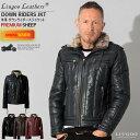 Liugoo Leathers 本革 ウィングネック ダウンライダース メンズ リューグーレザーズ WNG12A ダウンジャケット レザー…