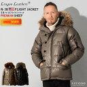 Liugoo Leathers 本革 N-3Bフライトジャケット レザーダウン メンズ リューグーレザーズ MIL07A ダウンジャケット/ミ…