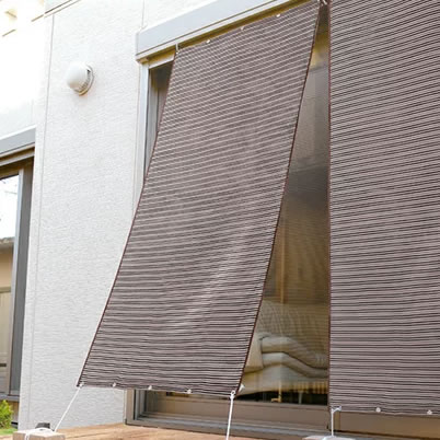 UVカット率99%以上 遮熱アルミすだれ 2枚セット 日本製 幅90×高さ185 屋外 目隠し 紫外線カット オーニング 日よけ シェード
