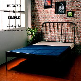 【処分特価】ベッド パイプベッド スチール製 頑丈設計のシンプルベッド シングル ブルックリン インテリア ベッドフレーム 【楽天ランキング1位】