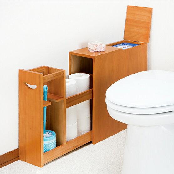 薄型スライド トイレラック スリムトイレ収納 fam+/ファムプラス サニタリー収納 薄型トイレットペーパー 収納 ブラシ収納 ラック ストッカー 洗面所 収納