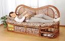 ソファ 天然 籐 ラタン 籐製 ハイバック カウチソファ 幅160cm アジアン
