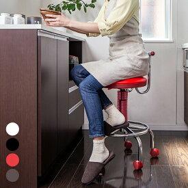 キッチンチェア 昇降式 カウンターチェア キャスター付き 椅子 背もたれ付き ガス圧 回転チェア 台所 作業椅子 デスクチェア キッチンスツール ハイスツール キッチンチェアー カウンターチェアー イス いす