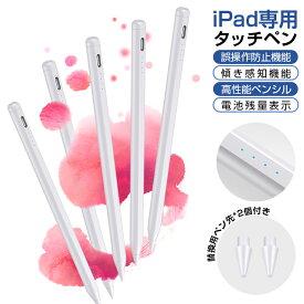 タッチペン iPad ペンシル 極細 タブレット スタイラスペン Type-C充電 ペン先1.0mm 超高感度 超軽量13g USB充電式 第8世代 第7世代 第6 5 4 3世代 対応 磁気吸着 自動電源OFF パームリジェクション機能 途切れ/遅延/ズレ/誤動作防止 送料無料