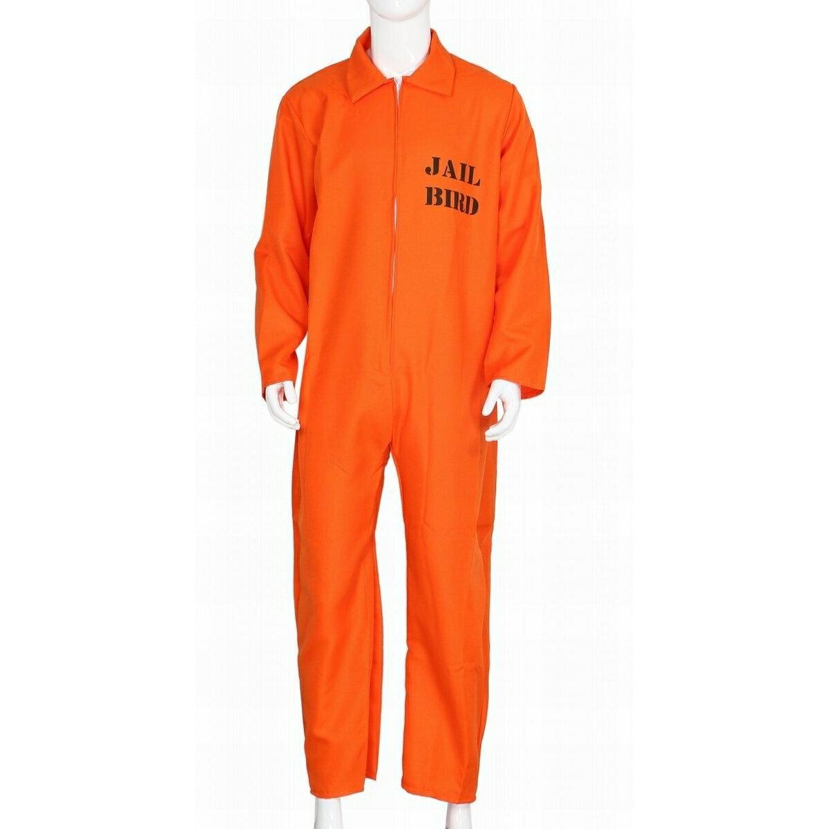 【今だけ送料無料!】 囚人服 オレンジ コスプレ 衣装 仮装 コスチューム セット ハロウィン 衣装 大人 パーティー 宴会