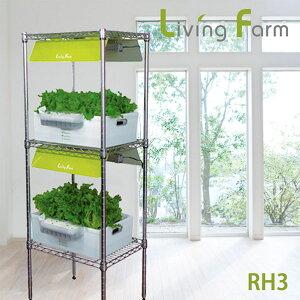 水耕栽培器 (水耕栽培キット) リビング野菜栽培 植物栽培用LED搭載 RH3(送料無料)