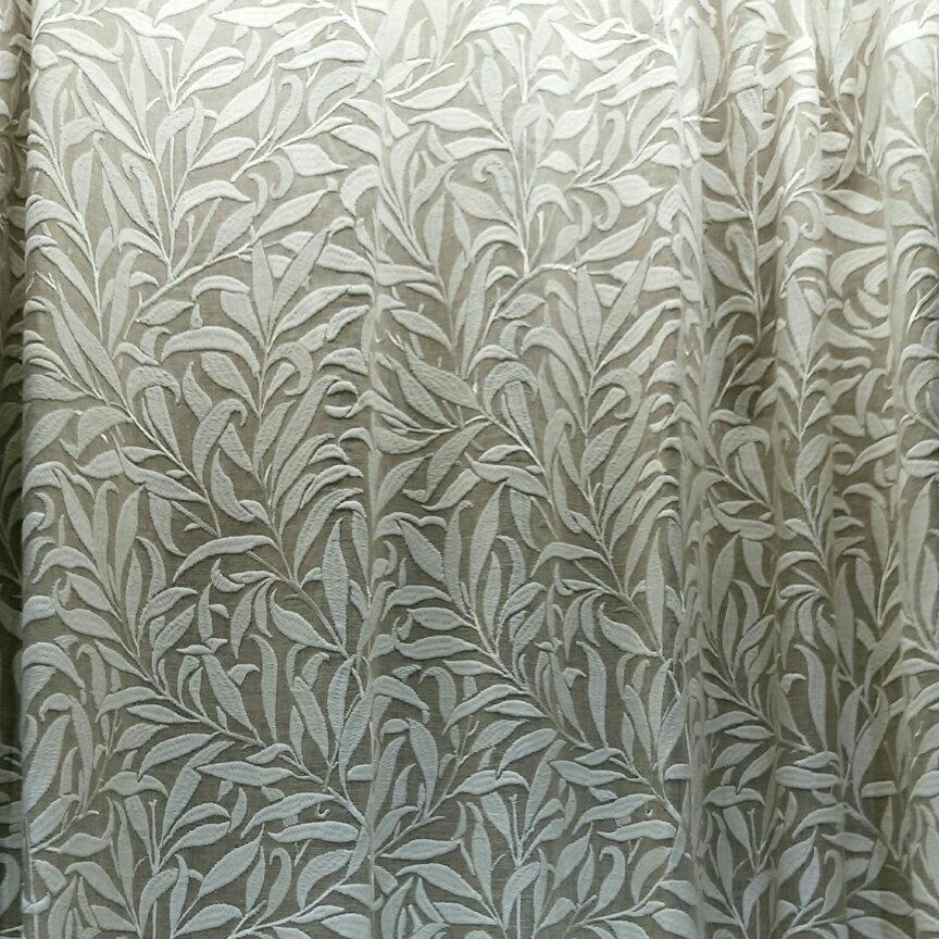 【送料無料】ウィリアムモリス/ピュアモリス Pure Willow Bough Embroidery オーダーカーテン フラットSTYLE 1枚分