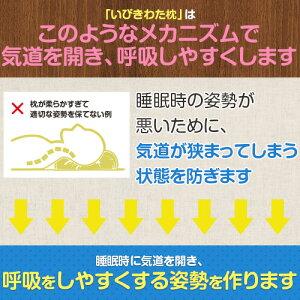 いびきわた枕いびき防止防止グッズいびき枕綿43×63cm洗える