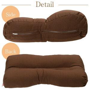 いびき枕プラス送料無料43×63cmサイズ高さ調節洗える綿わた綿オックス炭パイプ消臭無地まくらマクラ枕日本製いびき防止いびき対策