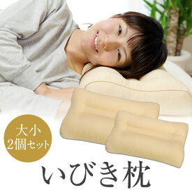 いびき防止 枕 35 × 50 43 × 63 cm いびき枕 スタンダード 大小2個セット 洗える 高さ調整 パイプ ピロー ギフト プレゼント まくら 贈り物