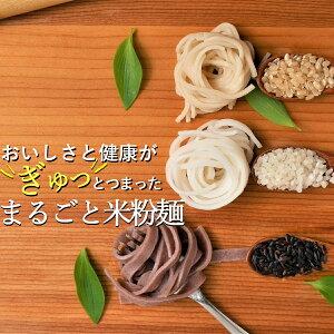 3種のまるごと米粉 麺 無農薬のモチモチ玄米パスタ グルテンフリー スパゲティ うどん 無添加 (3種ミックス6食)