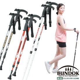 【送料無料】【BUNDOK トレッキングポールシステム 2本組/BD-451ST/登山、トレッキングポール、2本セット、山登り、ハイキング、ウォーキング、登山杖、スティック、山歩き、アンチショック、ストック、杖】