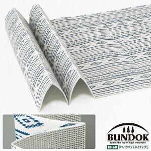 BUNDOK ジャバラマット ネイティブ柄L/BD-541/レジャーシート、アルミシート、折りたたみ、ジャバラ、レジャーマット、アルミマット、オシャレ、ネイティブ柄
