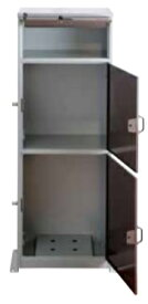 【送料無料・代引不可】KGY工業 郵便ポスト付き宅配ボックス リシムマルチ THB-3115 ブラウン