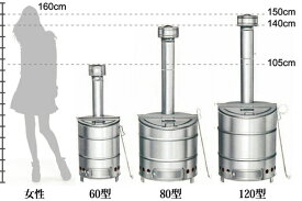 SANWA 三和式 特殊ステンレスごみ焼却器 120型 ステンレス焼却炉