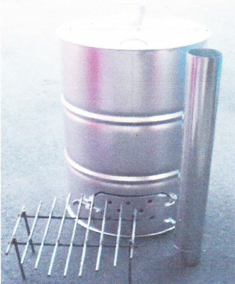 ドラム缶焼却器 200L サナ・煙突付 焼却炉