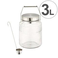 梅酒びんMCコンテナー3Lレードル付きガラス製