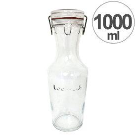 保存容器 Lock-Eat(ロック・イート) ドリンクボトル1000 1000ml ガラス製 ( 保存ビン ガラス保存容器 保存瓶 保存びん ガラス製保存容器 キャニスター ジャー ストッカー ガラス容器 ガラス製容器 ガラス食器 スパイスボトル )