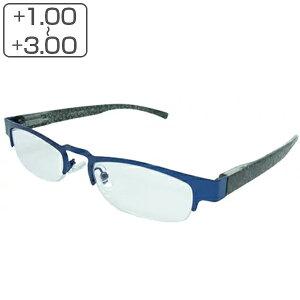 老眼鏡 シニアグラス ハーフリム メンズ レディース ブルー リーディンググラス 軽量 ( 男性 女性 男女兼用 ハーフ フチ 丈夫 メガネ 眼鏡 めがね おしゃれ )