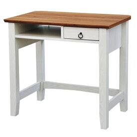 デスク 引出し付 机 フレンチカントリー 白家具 Charlotte 幅80cm ( 送料無料 パソコンデスク PC机 テーブル つくえ 勉強机 PCデスク パソコン机 収納付き 木製 木目 カントリー 大人可愛い ホワイト 白 おしゃれ 幅80 80cm )