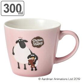 マグカップ 300ml ティミー&マミー ひつじのショーン 洋食器 磁器 日本製 美濃焼 ( 電子レンジ対応 食洗機対応 マグ カップ キャラクター コーヒーカップ 広口 食器 コップ かわいい おしゃれ キャラ 羊 )