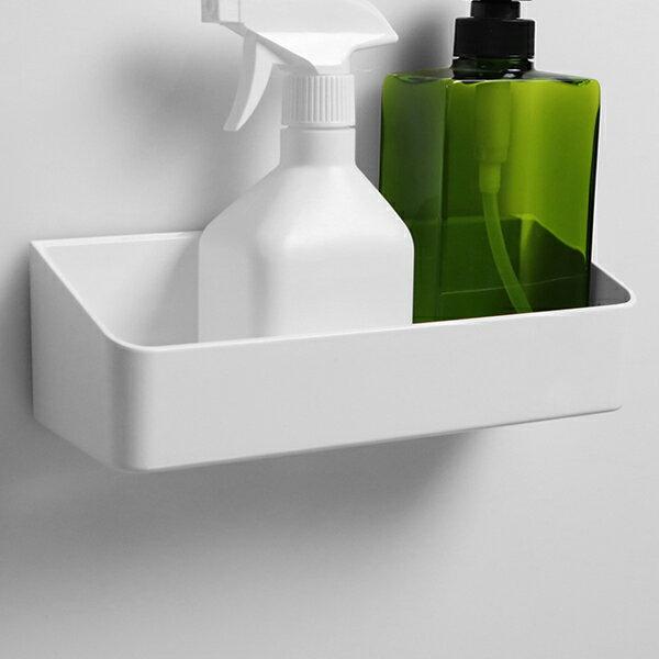 ラックスマグネット ウォールラック ( バス 収納 ラック 磁石 マグネット 浴室 バスルーム お風呂 壁面 壁 壁面収納 小物収納 キッチン 冷蔵庫 洗濯機 バス用品 収納用品 白 )