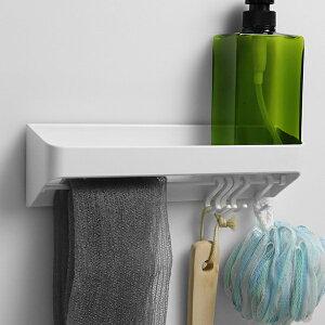 ラックスマグネット 洗剤ラック&フック ( バス 収納 ラック 磁石 マグネット 浴室 バスルーム お風呂 壁面 壁 壁面収納 小物入れ キッチン 冷蔵庫 洗濯機 バス用品 収納用品 白 )