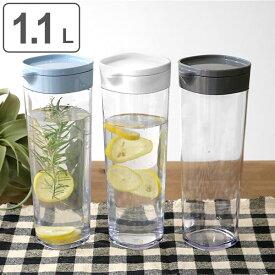 ピッチャー 冷水筒 ドリンクビオ 1.1L 横置き 縦置き 耐熱 ( ジャグ ポット 冷水ポット 水差し 麦茶ポット ジャグ 麦茶入れ 無地 プラスチック 約 1リットル プラスチック )