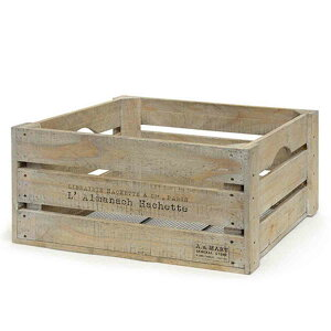 ガーデニング収納 収穫カゴ キャベツボックス アンティークホワイト ( 送料無料 収納 バスケット ウッドボックス ストッカー 野菜ストッカー 収納ボックス 木製 木箱 キッチン収納 収穫 か
