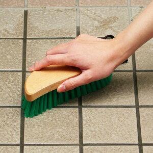 ブラシ ハンディ デッキブラシ 化繊 ( 床掃除 磨き こする こすり洗い 木製 玄関 床 タイル お風呂 コンクリート 調理場 化繊ブラシ 持ちやすい 角 汚れ かきだす 風呂 浴室 お風呂洗い 清掃