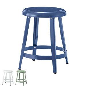 スツール 高さ45cm スチール 椅子 チェア レトロ シンプル ( 送料無料 イス チェアー いす 腰掛け 丸椅子 キッチン 玄関 リビング 飾り棚 踏み台 丸 円形 インダストリアル )