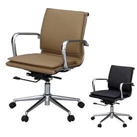 デスクチェア オフィスチェアー ソフトレザー ロッキング機能付 ( 送料無料 チェア チェアー いす イス 椅子 パソコンチェア オフィスチェア レザー PCチェア ワークチェア 学習椅子 キャスター 肘掛け )