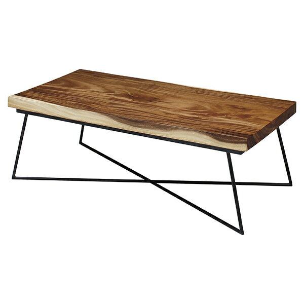 センターテーブル 天然木 ナチュラル 幅120cm ( 送料無料 リビングテーブル ローテーブル 無垢 木製 モンキーポッド おしゃれ 木目 木 長方形 テーブル 机 )