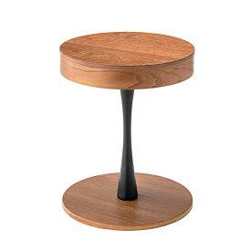 サイドテーブル 円形 天然木 ヴィンテージ調 内部収納付 直径40cm ( 送料無料 テーブル 机 つくえ 木製 ベッドサイドテーブル 収納 ヴィンテージ コンパクト 丸型 小物収納 お洒落 おしゃれ シンプル )
