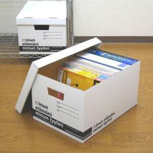 クラフト収納 ミヌンボックス L ( ダンボール 収納ケース 収納ボックス 収納box 紙 フタ付き 蓋付 蓋付き ふた付き A4ファイル 衣類収納 衣装ケース )
