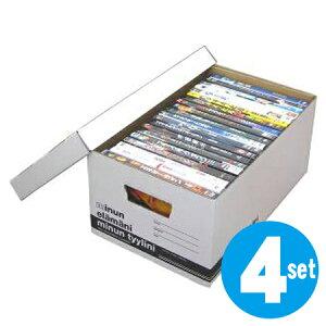 クラフト収納 ミヌンボックス SS 4個セット ( ダンボール 収納ケース 収納ボックス 収納box 紙 フタ付き 蓋付 蓋付き DVD ビデオ CD コミック )