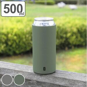 缶ホルダー タンブラー 500ml CAN GOMUG 缶クーラー マグ ステンレス ( 缶 保冷 保温 カバー ホルダー 持ち運び ドリンクホルダー 缶ジュース 缶ビール クーラー 滑り止め おしゃれ かわいい 保
