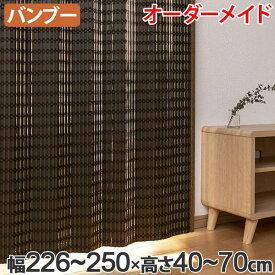 竹 カーテン サイズオーダー B-1540 ニュアンス 幅226〜250×高さ40〜70 ( 送料無料 バンブーカーテン 目隠し 間仕切り バンブー カーテン シェード 日よけ すだれ 仕切り 天然素材 おしゃれ 和室 洋室 )
