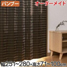 竹 カーテン サイズオーダー B-1540 ニュアンス 幅251〜280×高さ71〜100 ( 送料無料 バンブーカーテン 目隠し 間仕切り バンブー カーテン シェード 日よけ すだれ 仕切り 天然素材 おしゃれ 和室 洋室 )