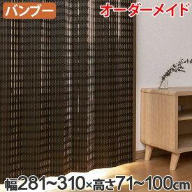 竹 カーテン サイズオーダー B-1540 ニュアンス 幅281〜310×高さ71〜100 ( 送料無料 バンブーカーテン 目隠し 間仕切り バンブー カーテン シェード 日よけ すだれ 仕切り 天然素材 おしゃれ 和室 洋室 )