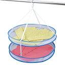 折りたたみ式 平干しネット 2段 平干し ネット 洗濯ハンガー 物干しネット ( 物干しネット 洗濯用品 洗濯グッズ 洗濯…